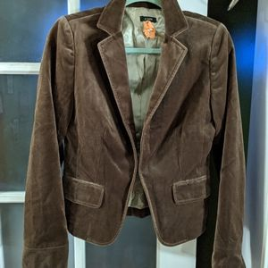 JCrew Brown Velvet Smoking Jacket Blazer